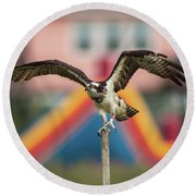 Osprey Salutes The Busch Eagle Round Beach Towel