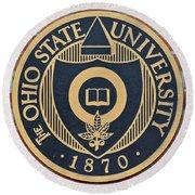 Osu Established Eighteen Seventy Round Beach Towel