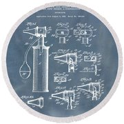 Otoscope Patent 1927 Blue Grunge Round Beach Towel