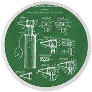 Otoscope Patent 1927 Green Round Beach Towel