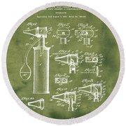Otoscope Patent 1927 Grunge Round Beach Towel