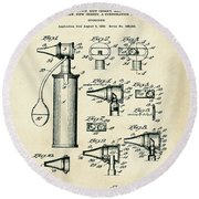 Otoscope Patent 1927 Old Style Round Beach Towel