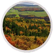 Ottawa River Valley In Fall At Tawadina Lookout At End Of Blanch Round Beach Towel