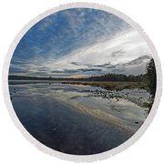 Otters View Round Beach Towel