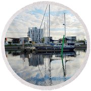 Oulu From The Sea 1  Round Beach Towel