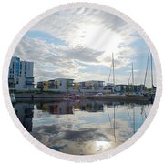 Oulu From The Sea 2 Round Beach Towel