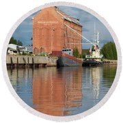 Oulu From The Sea 3 Round Beach Towel
