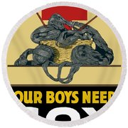 Our Boys Need Sox - Knit Your Bit Round Beach Towel