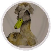 Our Crested Drake Round Beach Towel
