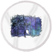 Our Father Berry Blues 3 Dimensional Round Beach Towel