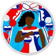 Our Flag Of Freedom 3 Round Beach Towel