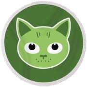 Our Green Cat Birka Round Beach Towel