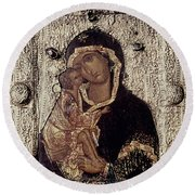 Our Lady Of Don Round Beach Towel
