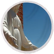 Our Lady Of Grace Round Beach Towel