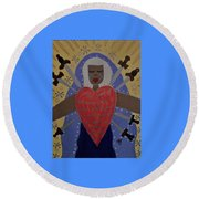 Our Lady Of Sorrows Round Beach Towel by Angela Yarber