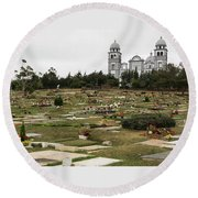 Our Lady Of Suyapa - 2 Round Beach Towel