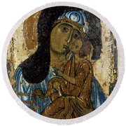 Our Lady Of Tenderness Round Beach Towel