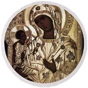 Our Lady Of Yevsemanisk Round Beach Towel