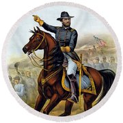 Our Old Commander - General Grant Round Beach Towel