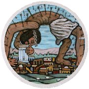 Our Shelter Round Beach Towel