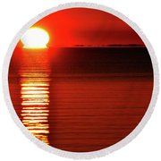 Our Star Rising Two  Round Beach Towel