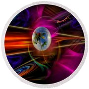 Our World Of Mystery - Airmail Round Beach Towel