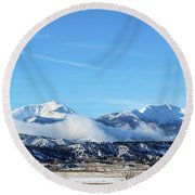 Ouray And Chipeta Round Beach Towel