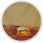Out In The Wild Round Beach Towel