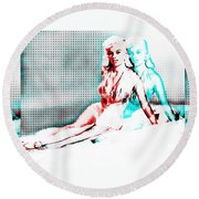 Out Of Body Experience Round Beach Towel
