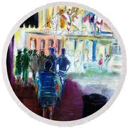 Out Of Darkness Into The Light Round Beach Towel