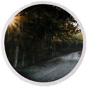 Out Of Darkness Round Beach Towel