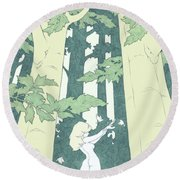 Out Of Hand Round Beach Towel