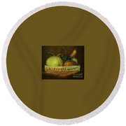 'out Of Season' Round Beach Towel