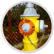Out Of Service Round Beach Towel