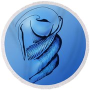 Out Of The Blue Aventurine Round Beach Towel