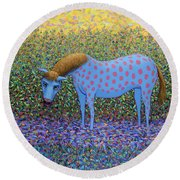 Out Of The Pasture Round Beach Towel