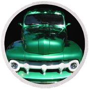 Out Of The Shadows - 51 F100 Ford  Round Beach Towel