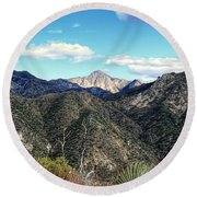 Out Of The Shadows - Angeles Crest Highway Round Beach Towel