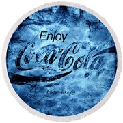 Out Of This World Coca Cola Blues Round Beach Towel