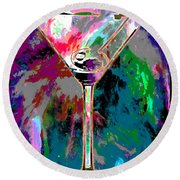 Out Of This World Martini Round Beach Towel