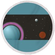 Out Of This World Round Beach Towel