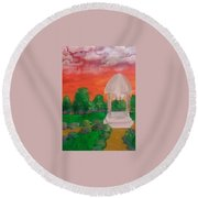 Out Of Touch Round Beach Towel