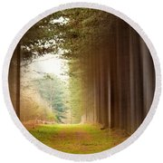Out Of Woods Round Beach Towel