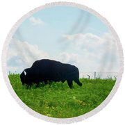 Out On The Range Round Beach Towel
