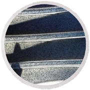 Out Shadows Round Beach Towel