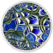 Out The Looking Glass Round Beach Towel