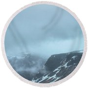 Out There Among The Clouds Round Beach Towel