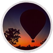 Outback Balloon Launch Round Beach Towel