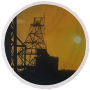 Outback Mines Round Beach Towel