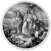 Outbreak Of Rebellion In The United States 1861 Round Beach Towel